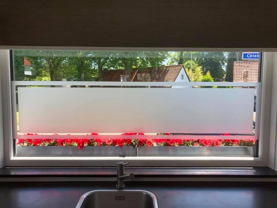 Raamdecoratiefolie raamfolie keuken met motief